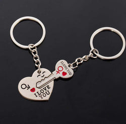 Heart Lock And Key I Love You Key Ring-Key Ring-Help Us Beat Cancer