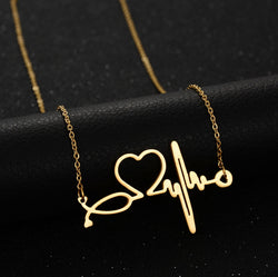Heart Beat Gold Plated Necklace-Necklace-Help Us Beat Cancer