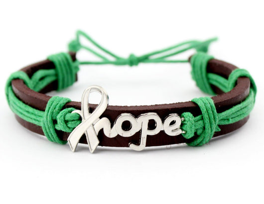 Liver And Gallbladder Cancer Awareness Leather Bracelet For Men And Women-Bracelet-Help Us Beat Cancer
