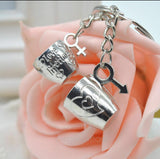Love Cups Male And Female Symbol Key Ring-Key Ring-Help Us Beat Cancer