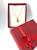 Heart Zircon Crystal Pendant Gold Plated Necklace-Necklace-Help Us Beat Cancer