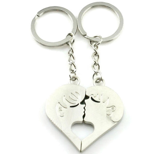 Lovers Couple Kissing Key Ring-Key Ring-Help Us Beat Cancer