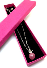 Pink Apple Necklace-Necklace-Help Us Beat Cancer