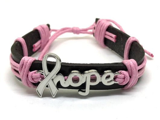Pink Breast Cancer Awareness Hope Bracelet For Women-Bracelet-Help Us Beat Cancer