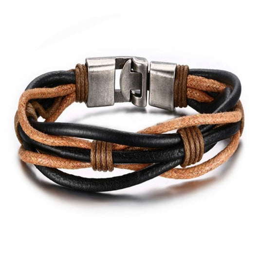 Vintage Leather Twined Bracelet For Men And Women-Bracelet-Help Us Beat Cancer