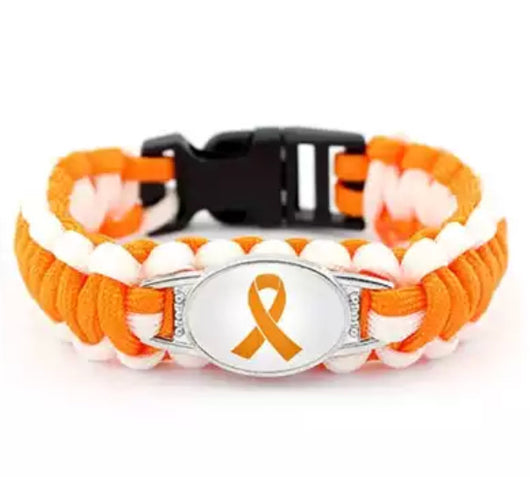 Kidney And Leukemia Awareness Paracord Bracelet For Men And Women-Bracelet-Help Us Beat Cancer