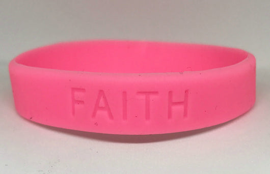 Cancer Awareness Pink Rubber Bracelets Women And Men-Bracelet-Help Us Beat Cancer