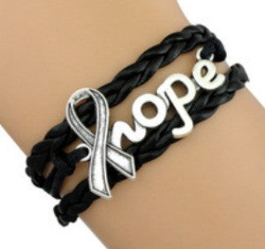Hope Melanoma Skin Cancer Awareness Bracelet-Bracelet-Help Us Beat Cancer