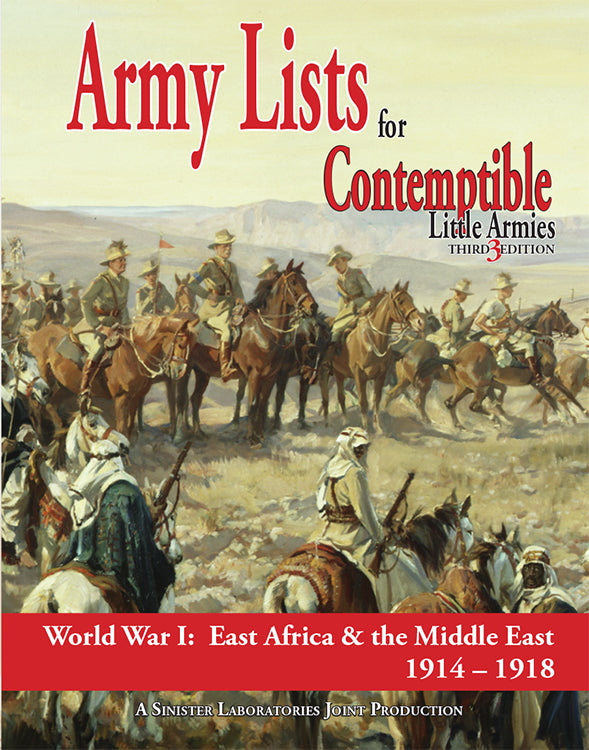 Army List 2: East Africa and the Middle East 1914-1918 (Softcover version)