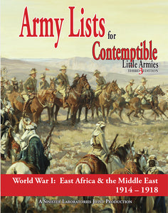 Army List 2: East Africa and the Middle East 1914-1918 (PDF version)