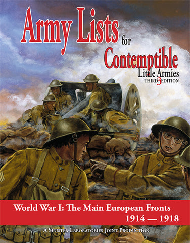Army List 1: The Main European Front 1914-1918 (PDF version)
