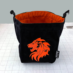 Lion Self-Standing Dice Bag