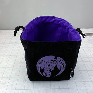 Raven Self-Standing Dice Bag