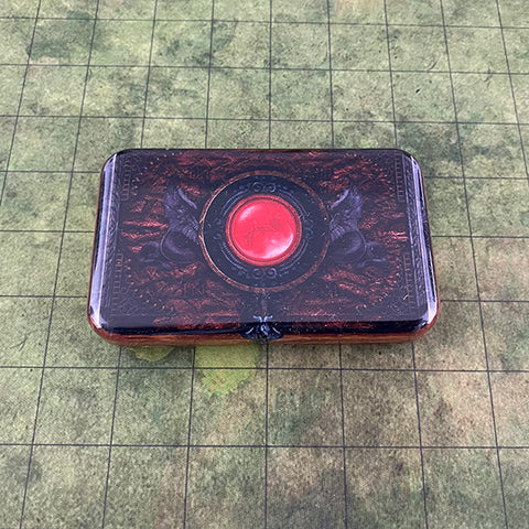 Warlock's Tome Metal Travel Dice Case