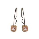Genuine Morganite Hoop Earrings