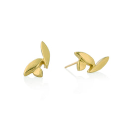 Petal 18kt Fairmined Gold Post Earrings