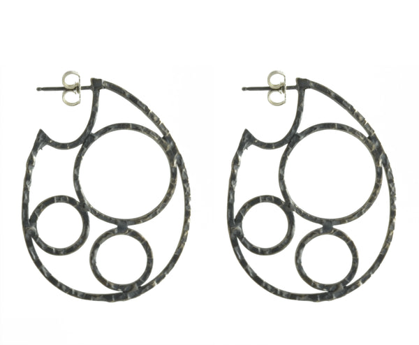 Circle Hoop Post Earrings