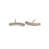 "East Fourth Street Jewelry, modern, small post earrings in 14kt yellow gold or sterling silver. 3/4"" long is the perfect size earring for every day wear."