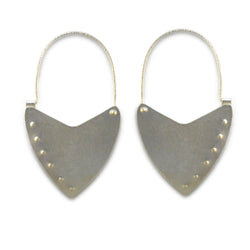 Shield Hoop Earrings