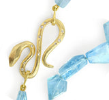 Award Winning 18kt Fairmined Yellow Gold, Aquamarine and Diamond Necklace