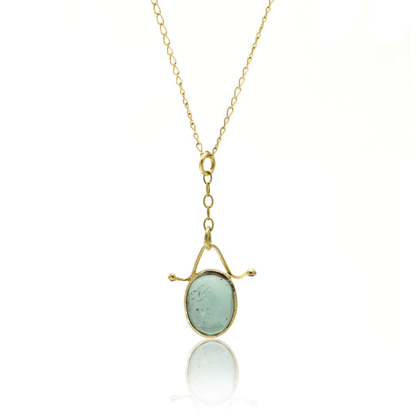 Tourmaline and Gold Pendant