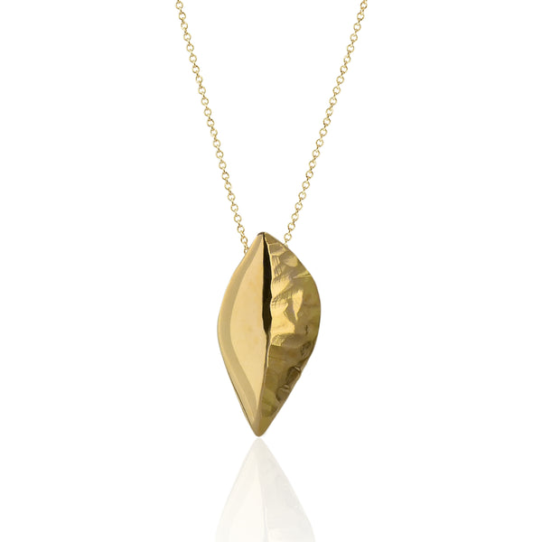 Flora Leaf Pendant, 18kt Fairmined Yellow Gold