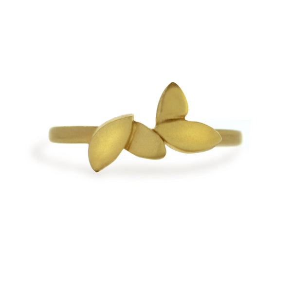 Leaf Band in 14kt or 18kt Gold