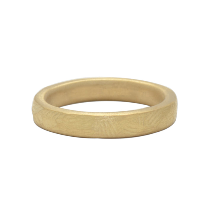 Masculine Bark Wedding Band