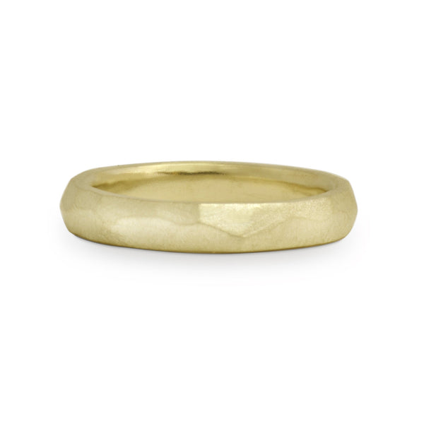 Masculine Chiseled Wedding Band