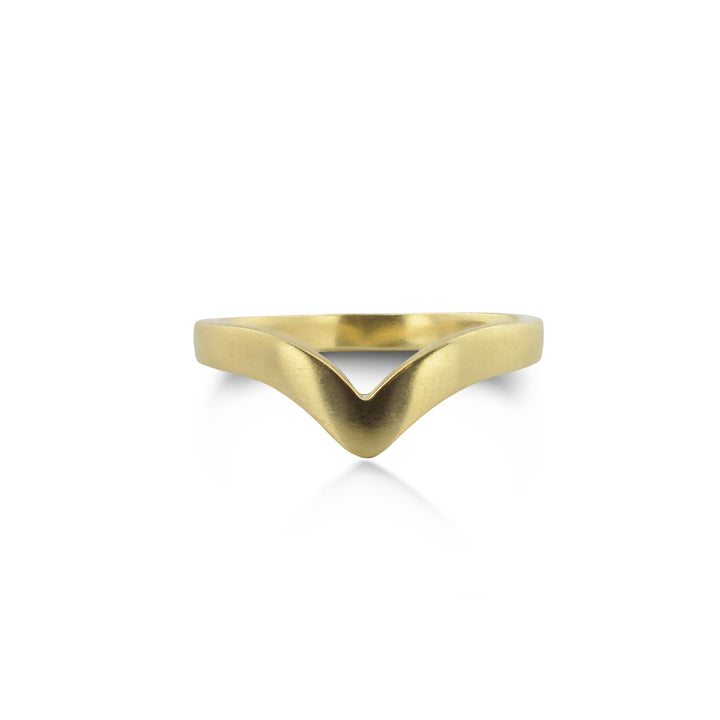 East Fourth Street Jewelry by Susan Crow, Lily Victory Band is ethically handmade from recycled or certified Fairmined gold. Stacks with solitaire rings.