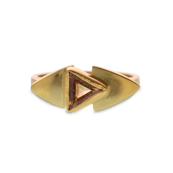 TRIANGULAR DIAMOND SHIELD RING
