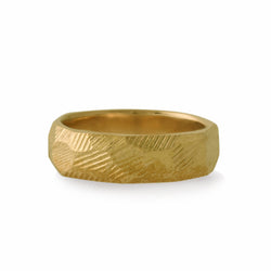 Wide Rustic Wedding Band