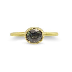 FOREST GREEN SAPPHIRE STACKING GOLD RING