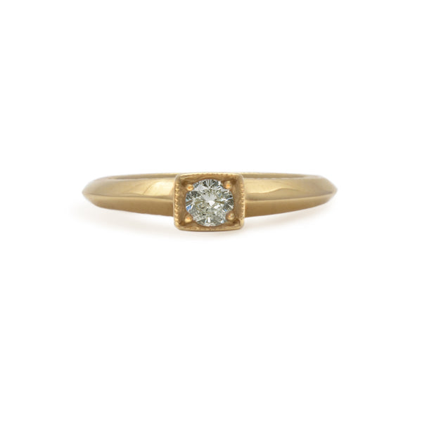 Gertrud Princess Solitaire Ring
