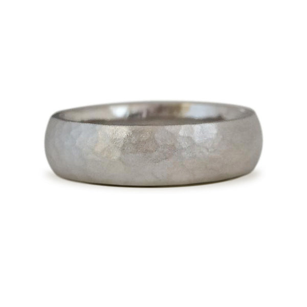 Classic Hammered Wedding Band