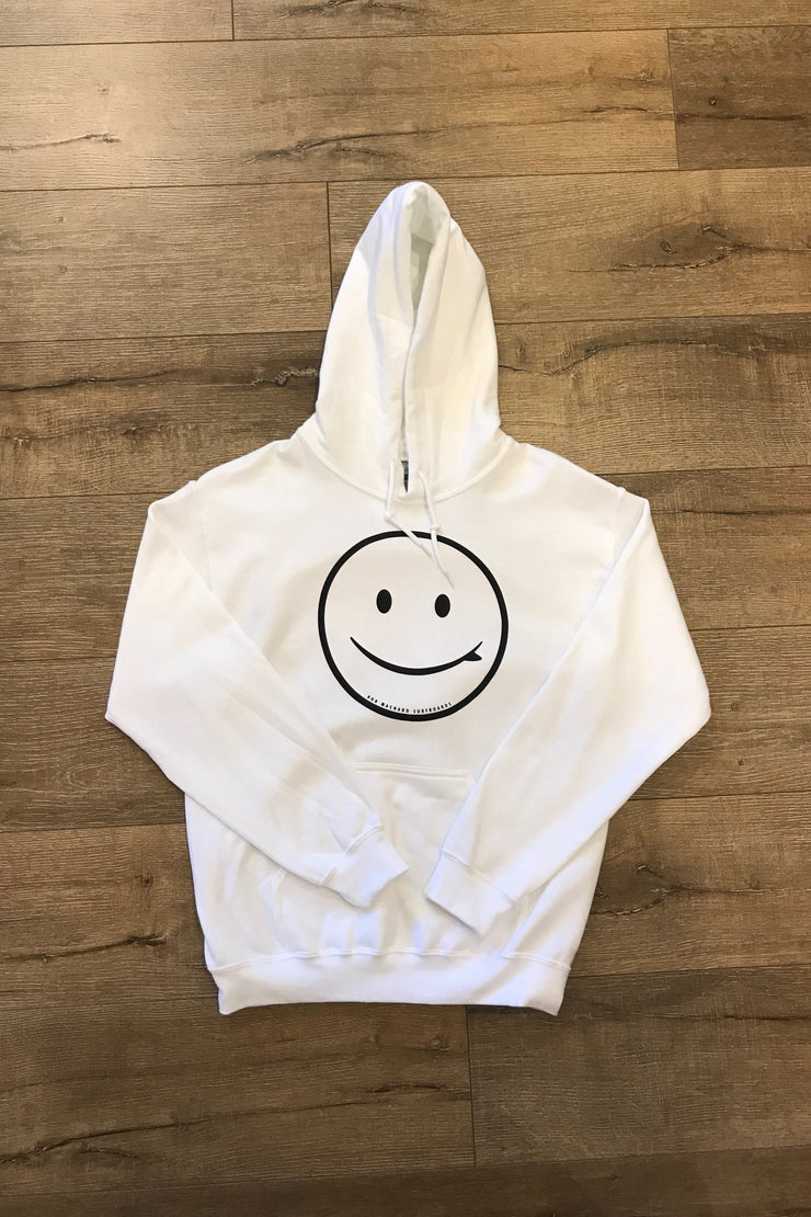 ROB MACHADO SURFBOARD SMILEY HOODIE - WHITE