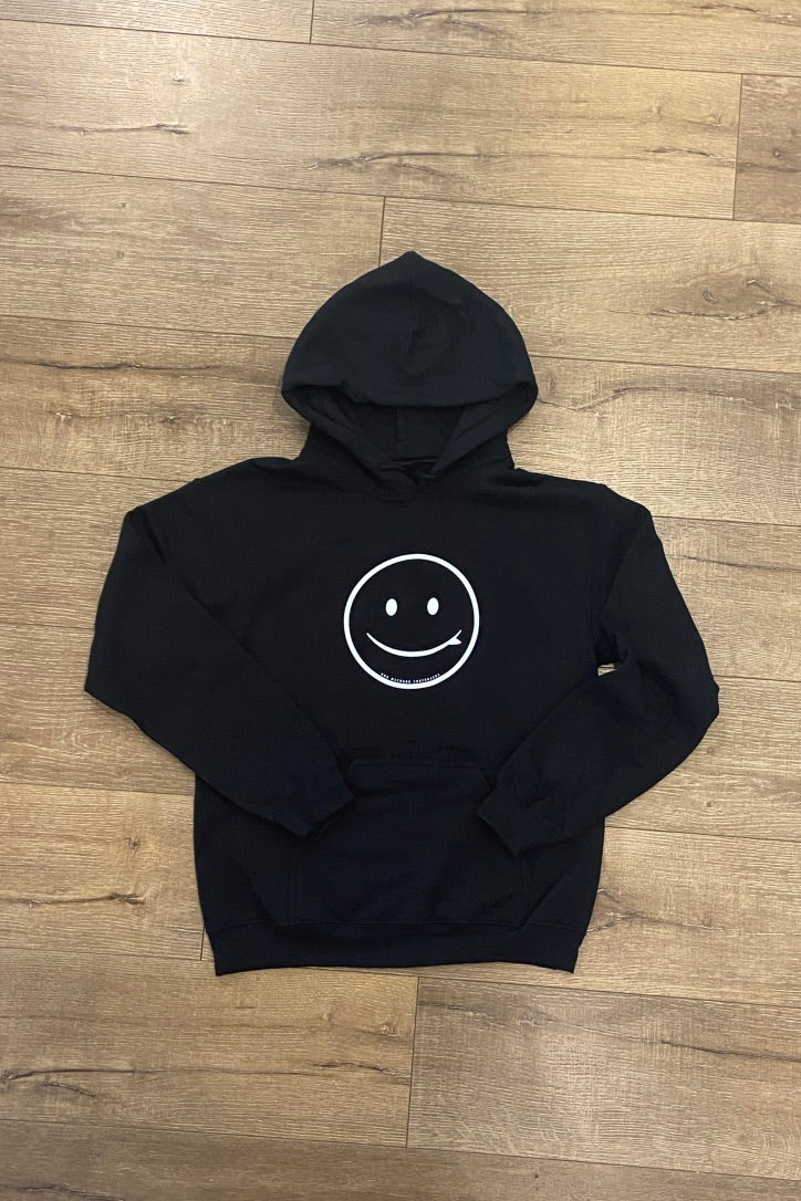 ROB MACHADO SMILEY HOODIE 2.0 - BLACK W/WHITE