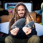 FCS II ROB MACHADO SEASIDE QUAD FIN SET - BLACK