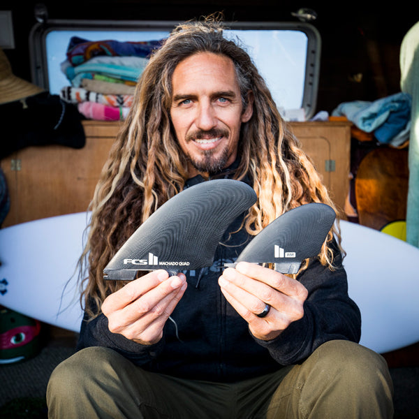 Rob Machado Surfboards FCSII Seaside Quad Fin Set - Black