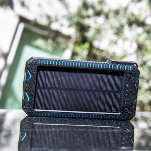 Twin Light 15,000 mAh Solar Charger w/ Fire Starter and Flashlight