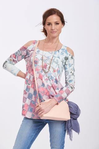 Whimsy Rose Cold Shoulder Tunic