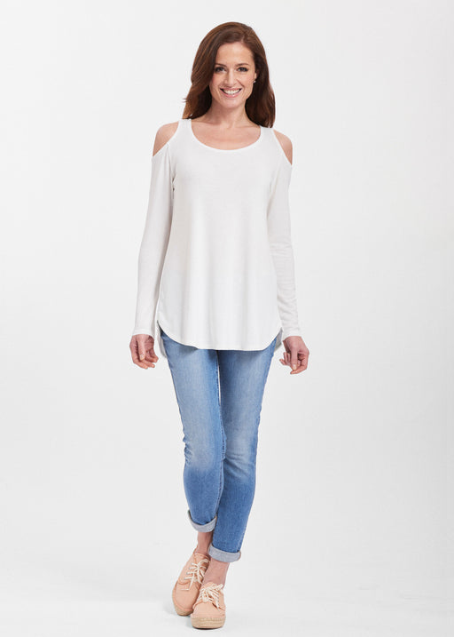 Butterknit Cold Shoulder Tunic