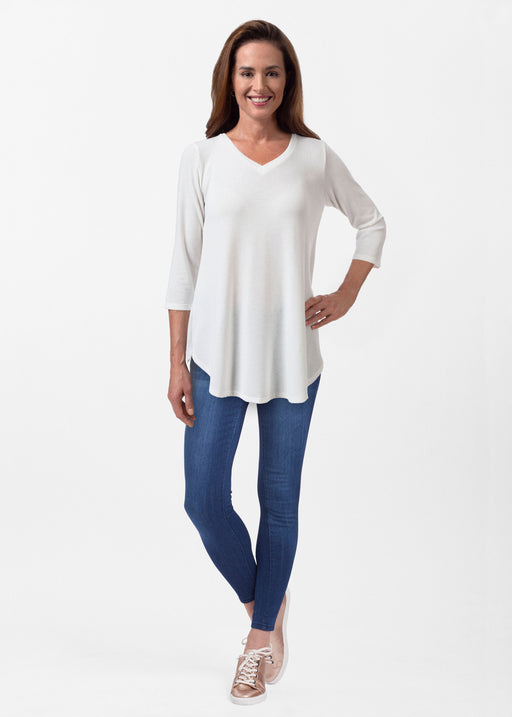 Butterknit V-neck Flowy Tunic
