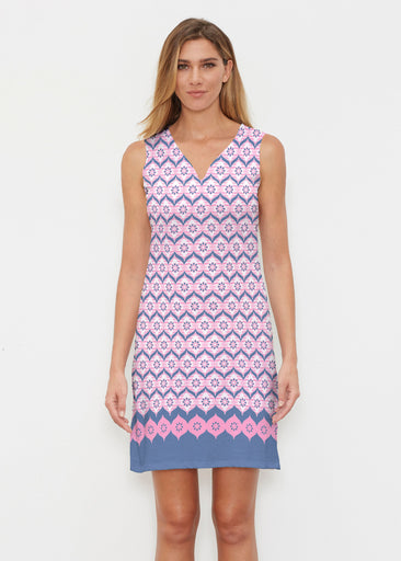 Zig Zag Pink (10134) ~ Classic Sleeveless Dress
