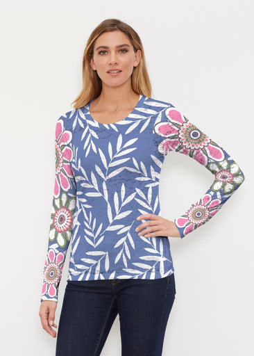 Midnight Garden (10158) ~ Thermal Long Sleeve Crew Shirt