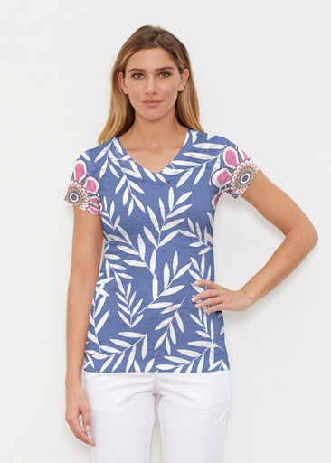 Midnight Garden (10158) ~ Signature Cap Sleeve V-Neck Shirt