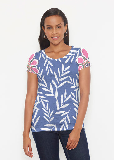 Midnight Garden (10158) ~ Short Sleeve Scoop Shirt