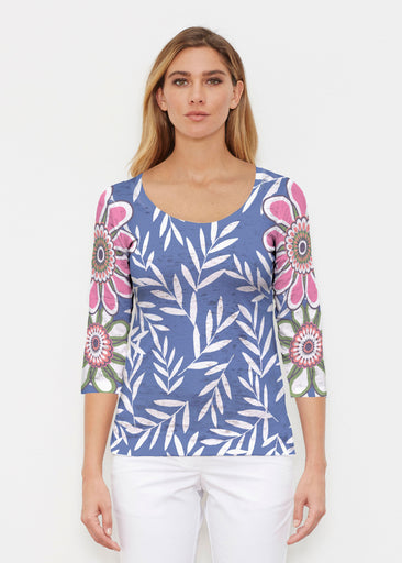 Midnight Garden (10158) ~ Signature 3/4 Sleeve Scoop Shirt