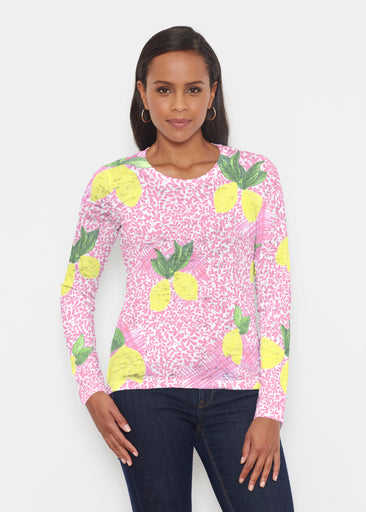 Pink Lemonade (10162) ~ Signature Long Sleeve Crew Shirt