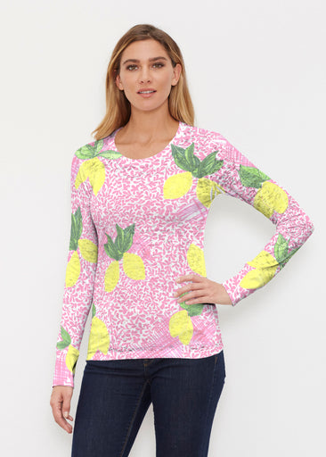 Pink Lemonade (10162) ~ Thermal Long Sleeve Crew Shirt